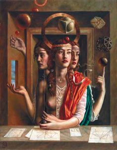 "Jake Baddeley                                               ""The ideal form""                                                 Oil on canvas, 2002."