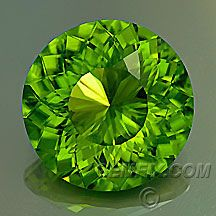 Peridot, American Cut Gemstones