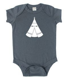 Another great find on #zulily! Charcoal Teepee Bodysuit - Infant #zulilyfinds