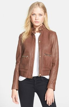 Joie 'Nakotah' Leather Jacket available at #Nordstrom
