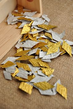 Luxurious Gold Confetti Toss Packets 10CT by courtneyorillion