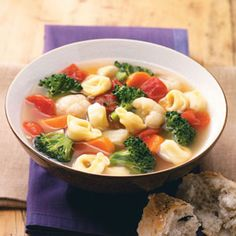 Veggie Tortellini Soup Recipe - love this soup! I add a bit of chicken and mushrooms.