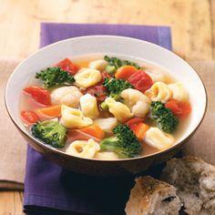 Veggie Tortellini Soup Recipe. 6PP