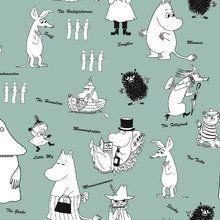 Papel tapiz - Moomin - Characters Green