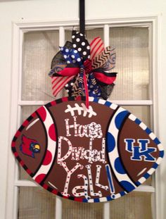 House Divided Yall Kentucky and Louisville Football Door