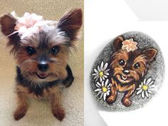 Daisy - Custom Dog Portrait Stone by sobeyondthis.deviantart.com on @DeviantArt