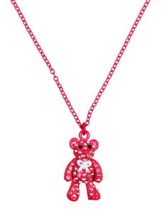 Pink Rhinestone Bear Necklace | Necklaces | Jewelry | Shop Justice $7.50