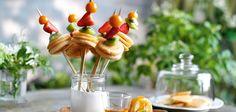 Mini-Pancakes am Spieß