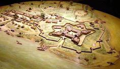 French Fort Duquesne at the fork of the Belle Riviere - 1755.