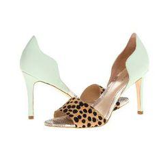 Loeffler Randall Charlot (Cheetah/Mint) High Heels Size 8 B - Medium | Find.com  #heels #shoes #edgy #unique #fashion