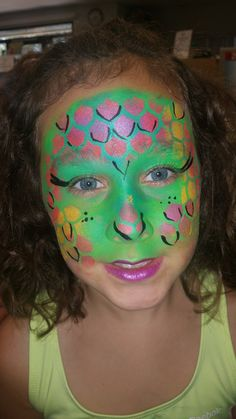 Lizard Girl Face Paint Creative Faces For Kids By: Dre