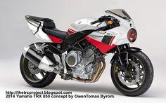 The TRX Project. The Yamaha TRX 850 blog: Yamaha TRX concept by Tomas Byrom.