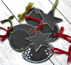 Make chalkboard crafts like tags with embellishments. They can be used as name tags. Or you can also write a short message on them. .