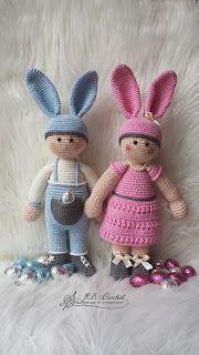 Ravelry: Lady Bien the Easterbunny pattern by JB Crochet Diy Doll, Crochet Designs, Crochet Toys, Tweety, Easter, Dolls, Lady, Dutch, Projects