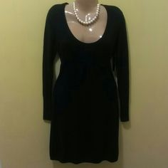 NWT BCBG MAXAZRIA black sweater dress size medium This BCBG black dress is brand new with the tag and is a size medium. It would be great with boots, booties or pumps and even with tights or leggings.. it is a very versatile dress. The listing is for the dress only. BCBG Max Azaria Dresses