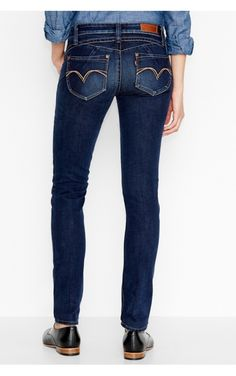 Jeans Levi's Revel Low Skinny Scrapped Blue