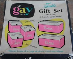 ~ Gay Ware Canisters - from Australia. just too cute for words!