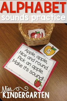 Young students will love these phonics activities! Help them practice their alphabet sounds through poem and song while also teaching them to blend those sounds together! #phonics #alphabet #misskindergarten