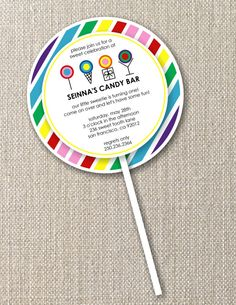birthday invitation - This would be perfect for Emme Claire's party at Dylan's Candy Bar!