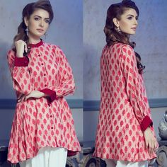 Look beautiful in our Rosetta Kurti in Rs. 3499 only. Shop from www. Girls Dresses Sewing, Stylish Dresses For Girls, Stylish Dress Designs, Simple Dresses, Casual Dresses, Baggy Dresses, Casual Wear, Short Dresses, Pakistani Fashion Casual