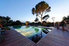piscine de nuit trophée d'argent