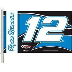 Ryan Newman #12 NASCAR Car Flag