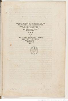 Hypnerotomachia Poliphili (F. Columnae, edente L. Crasso)