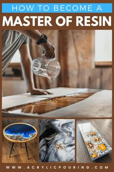 Check out how can acrylic pouring artists become a master of resin. Epoxy Resin Table, Epoxy Resin Art, Diy Resin Art, Diy Resin Crafts, Wood Resin, Acrylic Resin, Resin And Wood Diy, Diy Epoxy, Acrylic Canvas