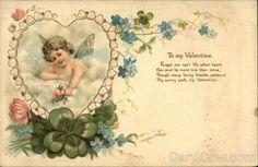 Cupid 1907 to My Valentine Divided Back Postcard w 1c Stamp | eBay
