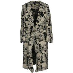 Donna Karan Coat (11.765 BRL) ❤ liked on Polyvore featuring outerwear, coats, black, donna karan, pattern coat, print coat, donna karan coat and single-breasted trench coats