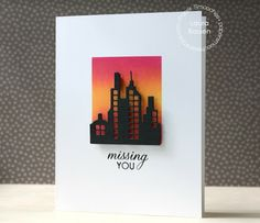 Card by PS DT Laura Bassen using the PS Super 2 dies and the Salutations stamp set