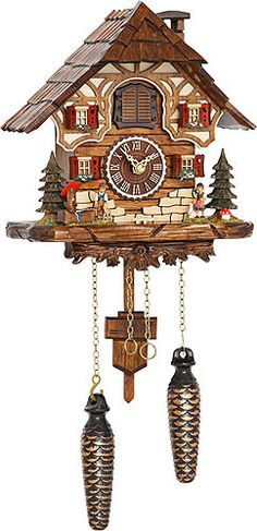 Cuckoo Clock Quartz-movement Chalet-Style 24cm by Trenkle Uhren  including worldwide shipping