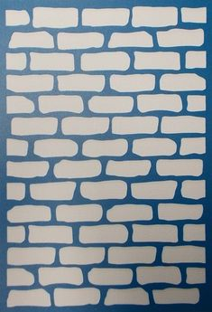 Brick Wall Background Stencil by kraftkutz on Etsy Mais