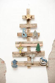 wonen met LEF - specials Kerstboom sloophout, pallethout 120x75cm - wonenmetlef.nl