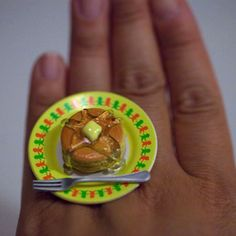 Kawaii Cute Japanese Miniature Food Ring  A by fingerfooddelight, $12.00