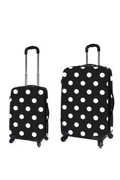 Travelers Club 2-Piece Luggage Set With 4-Wheel System