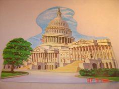 """1969 Dennison 'Capitol Building' Die Cut Decoration. Two Sizes: 10 3/4"""", 16"""""""