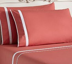 Shop Pottery Barn for sheet sets essential to a comfortable retreat. Choose cozy and stylish sheet sets, pillowcases and bed sheets and add cozy warmth to your bed. Linen Bedding, Bedding Sets, Designer Bed Sheets, Sewing Pillows, Bed Sheet Sets, Furniture Sale, Outdoor Furniture, Sofa Covers, Sofa Pillows