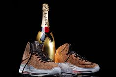 "Nike LeBron ""Cork"" x Gold Moet & Chandon Magnum"