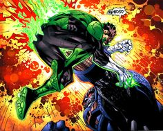 Green Lantern Hal Jordan vs Darkseid by Jim Lee