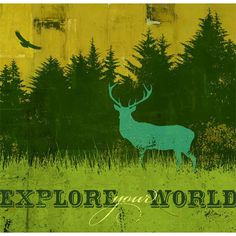 Explore Your World Wood Sign