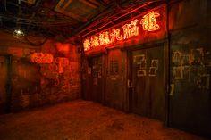 Kawasaki Warehouse - Kowloon Walled City Rebuilt in Japan Kowloon Walled City, Cyberpunk City, Aesthetic Japan, Neon Aesthetic, Street Photography, Landscape Photography, Night Photography, Pen & Paper, Art Anime