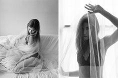 Black and white boudoir on film captured by Verona Lain Photography (London, UK)