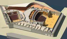 Theater opengewerkt - bovenaanzicht