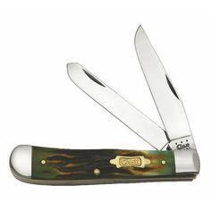 Case Knives | Burnt Moss SS Mini Trapper