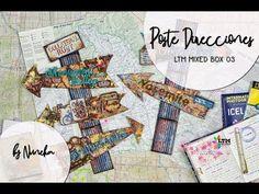 Poste de Direcciones by Nuneka Tim Holtz, Mix Media, Mixed Media Art, Scrapbook Albums, Medium Art, Decoupage, Art Projects, Youtube, Utility Pole