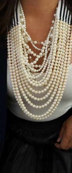 gorgeous statement  pearl necklace design ideas (6)