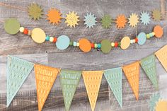 Decorate! Celebrate! Cricut cartridge -- Birthday wishes pennant banner. Make It Now with the Cricut Explore machine in Cricut Design Space.