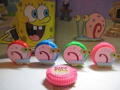 Chiclets Festa do Bob Esponja Spongebob Birthday Party, 6th Birthday Parties, Birthday Party Decorations, 3rd Birthday, Spongebob Party Ideas, Birthday Ideas, Frozen Birthday, Birthday Centerpieces, Birthday Crafts