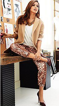 The City - Fall 2013 - Latest Trends - New York & Company Eva Mendes Collection- Milano Coat, Boyfriend Tee, Soft Pant and Jewewlry